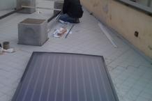 Montaggio pannello solare